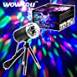 Lighting Equipment & Accessories - WOWTOU Rotating House Party Crystal Disco Ball LED Stage Light with 360 Degree Extendable Tripod and US Plug