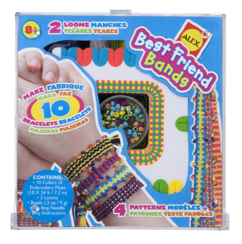 Alex Best Friends Bands Friendship Bracelet Kit with 2 Looms and 10 Colors