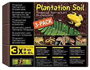 Exo Terra Plantation Soil, 8 Quarts, 3-Pack