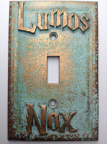 Lumos/Nox (Harry Potter) Light Switch Cover (Custom) (Aged Patina) (Custom Light Switch Cover compare prices)