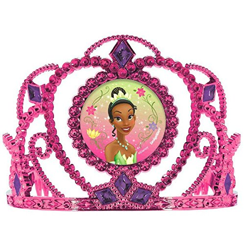 Amscan Dazzling Disney Tiana Enchanted Electroplated Tiara (1 Piece), Pink/Purple, 3 1/2 x 4 1/2""