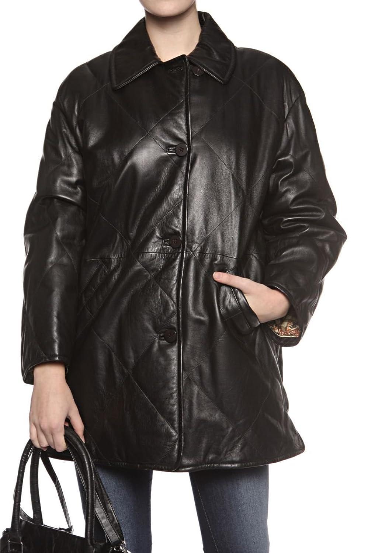 Cristiano di Thiene Damen Jacke Lederjacke , Farbe: Schwarz günstig kaufen