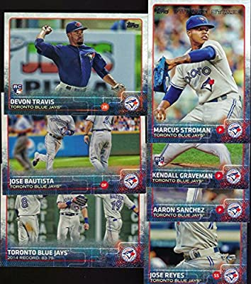Toronto Blue Jays 2015 Topps MLB Baseball Regular Issue Complete Mint 25 Card Team Set with Jose Bautista, Jose Reyes, Brett Lawrie Plus