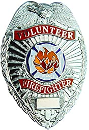 Tactical 365 Operation First Response Volunteer Firefighter Badge (Nickel)