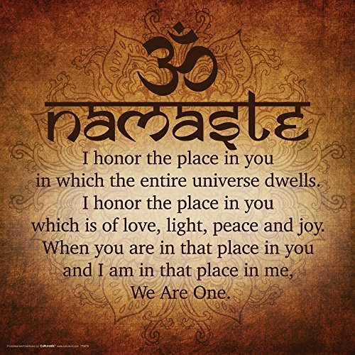 Namaste Buddhist Inspirational Motivational Spiritual Yoga Quote Poster Print, Unframed 12x12 (Yoga Pictures compare prices)