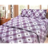 Cosmosgalaxy Cotton Double Bedsheet With Pillow Covers - Queen Size, Multicolor