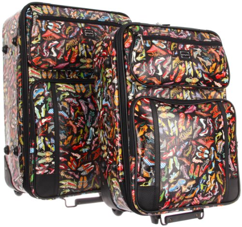 Sydney Love Stepping Out 2 Piece Luggage Set 41485 Weekender,Multi,One Size special offers