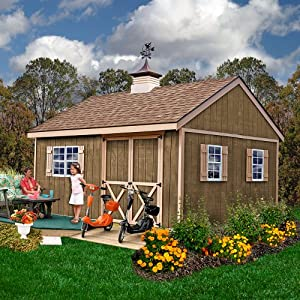 Amazon.com : Best Barns New Castle 12' X 16' Wood Shed Kit : Patio