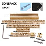 ZONEPACK Copper Brass Stamping Flexible Letters Numbers Alphabets Symbols Characters Molds CNC Engraving Molds for Hot Foil Stamping Machine (Arial) (Tamaño: A font)