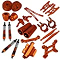 Mxfans Orange Aluminum Alloy Accessories Upgrade Parts for RC 1:10 AXIAL YETI ROCK RACER 90026 Racing Climbing Rock Crawler Pack of 23