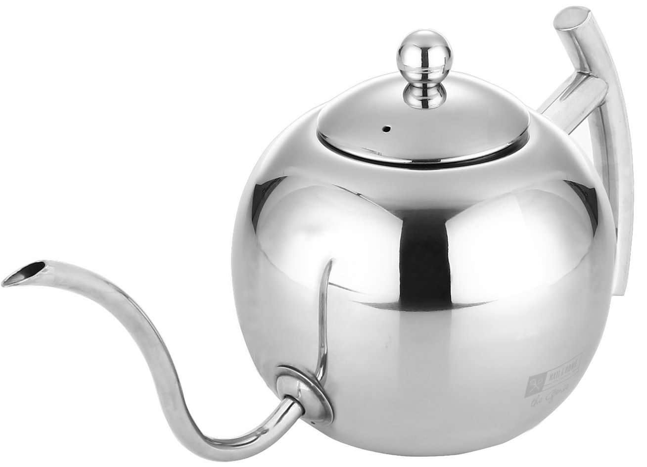 Stainless Steel Pour Over Drip Coffee Kettle - Built In Tea Infusion For Tea Lovers - Induction Stove Top Compatible - 1.1 L / 4 1/2 Cup