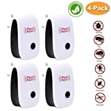 POP VIEW Pest Control Ultrasonic Pest Repeller, Non-Toxic, Humans & Pets Safe, Electronic Plug in Repellent Indoor for Insects, Mosquitoes, Mice, Spiders, Ants, Rats, Roaches (Tamaño: White)