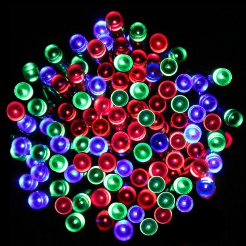 Solar powered christmas lights for Decoration exterieur led