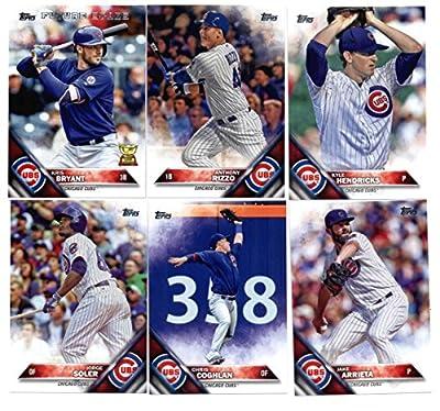 2016 Topps Baseball Series 1 Chicago Cubs Team Set of 11 Cards: Miguel Montero(#36), Kyle Schwarber(#66), Jon Lester(#151), Jason Hammel(#153), Starlin Castro(#212), Chris Coghlan(#231), Jorge Soler(#252), Jake Arrieta(#264), Kyle Hendricks(#314), Anthony