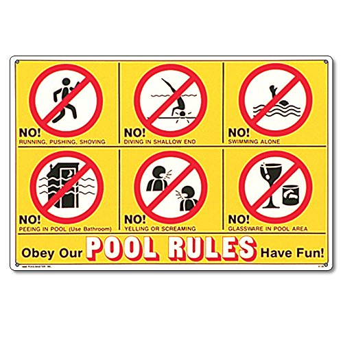 Poolmaster 41357 Icon Pool Rules Sign For Residential