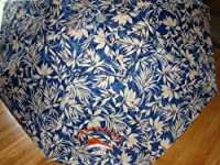 Tommy Bahama 7 Ft Beach Umbrella with Sand Anchor and Tilt SPF 100 - Blue Flower by Tommy Bahama