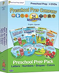 Preschool Prep Pack - 4 DVDs (Meet the Letters, Meet the Numbers, Meet the Shapes, Meet the Colors)