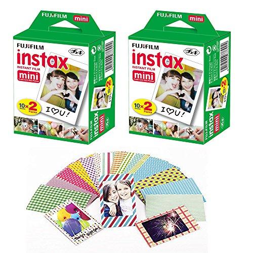 fuji-instax-mini-instant-film-40-shots-with-bonus-20-decorative-skin-stick-on-stickers-for-fuji-inst