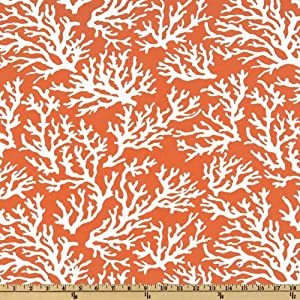 54'' Wide Swavelle/Mill Creek Indoor/Outdoor Faylinn Mandarin Fabric By The Yard