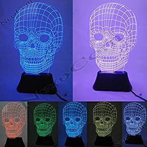 COM Amazing Optical Illusion 3D Deco LED Lamp/Night Light,7 Different Color is Adjustable by NewCom