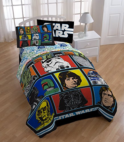 Star Wars Classic Twin Comforter And Sheet Set Home Garden
