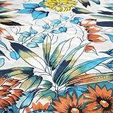 パレオ タヒチアンダンス【南国 トロピカル】インド綿 水着 の上に タヒチアン 大判 マルチクロス 巻き方 大きいサイズ ロング (ブルー)