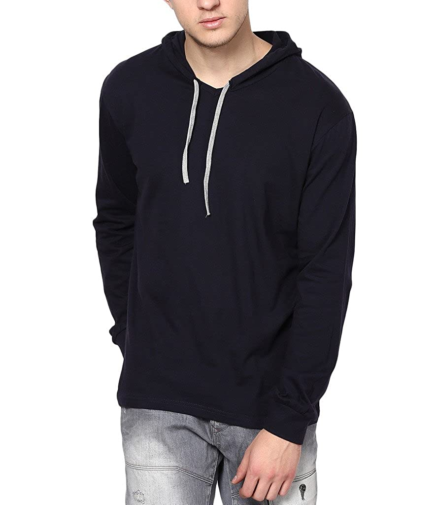Inkovy Full Sleeve Men's Cotton Hooded T-shirt low price