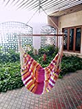 Hangit Cotton Fabric Hammock Swing Chair | Ideal for Big Children for Girls for Bedroom or Home indoor outdoor