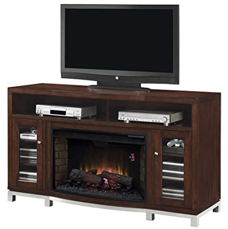 """ClassicFlame 32MM6439M-C247 Wesleyan TV Stand for TVs up to 70"""", Meridian Cherry (Electric Fireplace Insert sold separately)"""