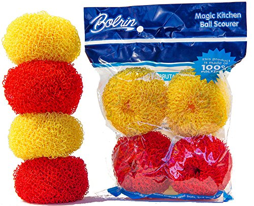bolrin-scratch-free-hard-polyester-pot-dish-scrubber-4-pack-pan-scourer-red-yellow