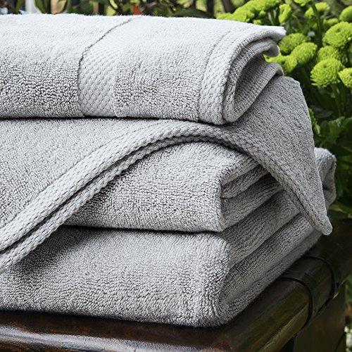 Biancheria Bagno in Bambù - 1 x Asciugamano Per Le Mani di Lusso - 600gsm - Grigio Perla - 90cm x 50cm