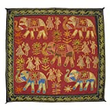 Home Decor Jaipuri Embroidery Cotton Wall Hanging Tapestry 35 By 35 Inches