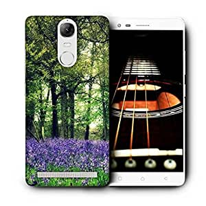Snoogg Purple Small Plants Printed Protective Phone Back Case Cover For Lenovo K5 Note