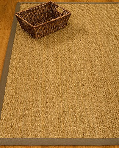 NaturalAreaRugs Natural Fiber Four Seasons Seagrass Rug with 2