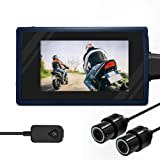 Motorcycle Camera Recorder System Waterproof Front and Rear Dual 1080P HD Dash Cam Motorbike DVR Sports Action Camera Video Recording with Microphone 2.7