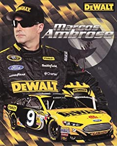 Buy AUTOGRAPHED 2013 Marcos Ambrose #9 DEWALT RACING (Petty) NASCAR SIGNED 8X10 Hero Card by Trackside Autographs