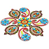 Decoration Craft Acrylic Rangoli - (28 Cm X 28 Cm)