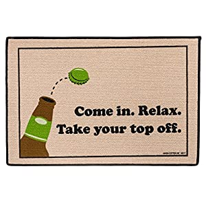High Cotton Come in. Relax. Take your top off. Doormat (Natural)