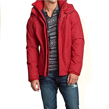 Hollister Co. Men's Red All Weather Season Jacket
