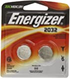 Energizer Watch/Electronic Batteries, 3 Volts, 2032