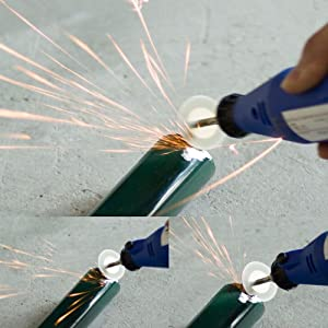 Diamond Cutting Wheel Cut Off Discs Coated Rotary Tools W/Mandrel 22mm for Dremel by Lukcase