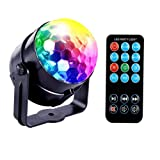 JUDYelc Disco Lights-Crystal Ball Stage Light with Rotating RGBW LED Party Light Show for Wedding Shows Dance Floor Night Club DJ Flashing (Ver. RC)