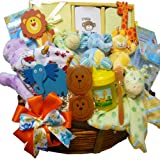 Art of Appreciation Gift Baskets Jungle Buddies Baby Gift Basket - Neutral Boy or Girl