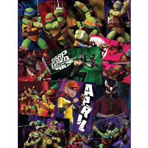 "TEENAGE MUTANT NINJA TURTLES STICKERS - Teenage Mutant Ninja Turtles Birthday Party Favor Sticker Set Consisting of 20 Stickers Featuring Different Designs Measuring 2.5"" Per Sticker"