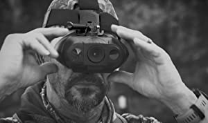 X-Vision Deluxe Rechargeable Digital Hands Free Night Vision Goggles, see 110 yards at night (Color: Black)