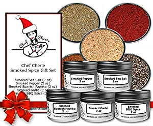 Chef Cherie's Smoked Spice Gift Set - Contains 5 2 oz. Tins