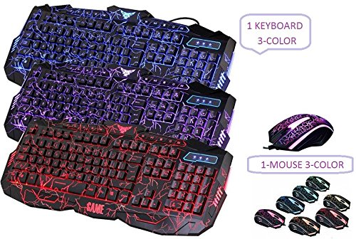HDStars-Gaming-Keyboard-and-Mouse-Combo-Bundle-Tri-Color-LED-USB-Backlit-Gaming-Keyboard-GAMING-MOUSE-1600-DPI-with-7-Color-Changing-LED-FOR-Microsoft-Windows-10-81-8-7-Vista-XP