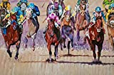 2015 KENTUCKY DERBY - Fine Art Giclee Print 12 x 18 Inch from Original Acrylic Horse Racing Painting of Triple Crown Winner American Pharoah