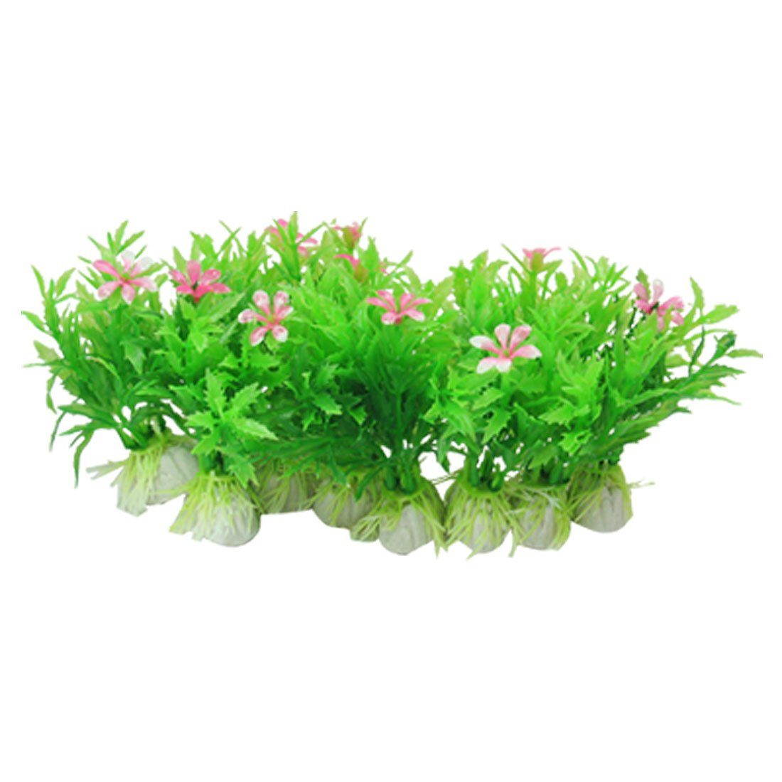 Beautiful Aquarium Plastic Plants with Flower for Fish Tank