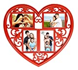 Love Forever 4 in 1 Red Photo Frame (4x6 inch 4 photos)